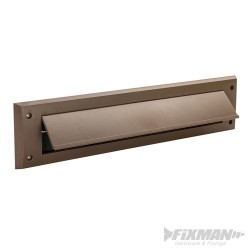 Letterbox Draught Seal with Flap - 338 x 78mm Brown
