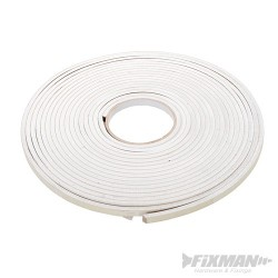 Self-Adhesive EVA Foam Gap Seal - 3 - 8mm / 10.5m White