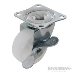 Polypropylenové otočné kolečko s brzdou - 50mm 50kg