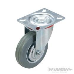 Kólko skretne gumowe - 100 mm 70 kg