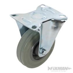 Fixed Rubber Castor - 100mm 70kg