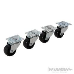 Light Duty Swivel Castors 4pk - 41mm