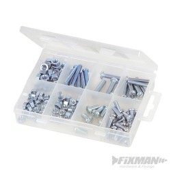 Machine Screws & Nuts Pack - 105pce