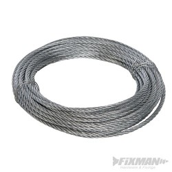 Galvanised Wire Rope - 6mm x 10m