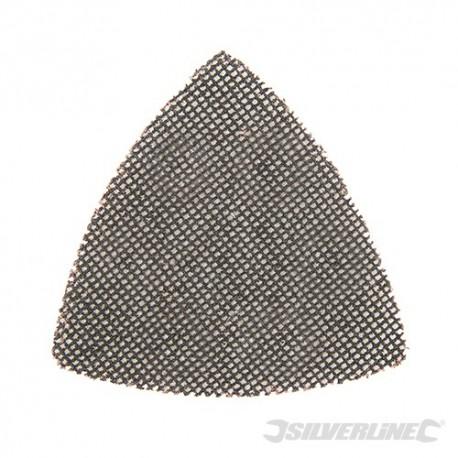 Hook & Loop Mesh Triangle Sheets 105mm 10pk - 80 Grit