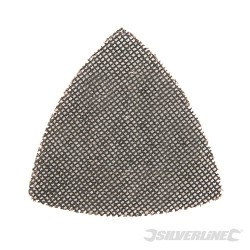 Hook & Loop Mesh Triangle Sheets 105mm 10pk - 120 Grit