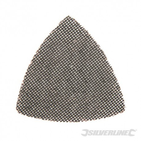 Hook & Loop Mesh Triangle Sheets 105mm 10pk - 120 Grit