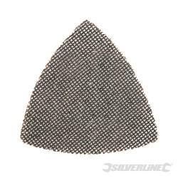 Trójkatna siatka scierna na rzep 105 mm, 10 szt. - P180