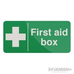 First Aid Box Sign - 200 x 100mm Self-Adhesive