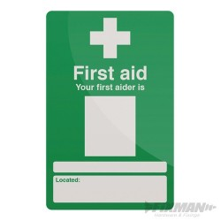 Your First Aider Sign - 200 x 300mm Rigid
