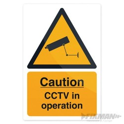 CCTV In Operation Sign - 200 x 300mm Self-Adhesive