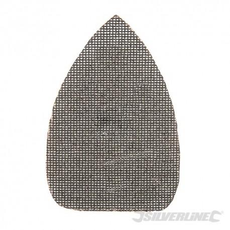 Trójkatna siatka scierna na rzep 140 x 100 mm, 10 szt. - P120