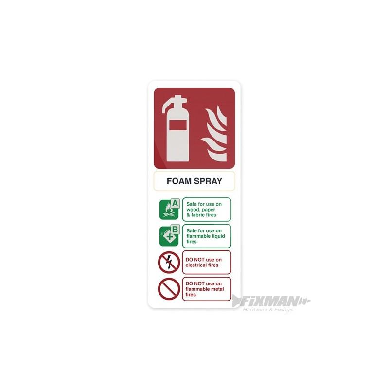Polyurethane Foam Signs : Foam spray extinguisher sign mm self adhesive