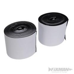 Czarny rzep samoprzylepny w rolce, 2 szt. - 100 mm x 5 m