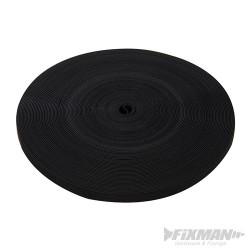 Czarna rolka rzepu - 13 mm x 25 m