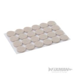 Self Adhesive Felt Pads Protectors 24pk - 20mm Round