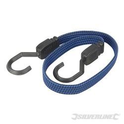 Plaska linka elastyczna z hakami - 635 mm