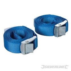 Cam Buckle Tie Down Strap 2.5m x 25mm 2pk - 2.5m x 25mm