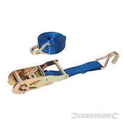 Ratchet Tie Down Strap J-Hook - 3m x 27mm - WLL 350kg Breaking Strength 1000kg