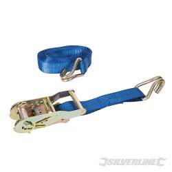 Ratchet Tie Down Strap J-Hook 4m x 30mm - Rated 400kg Capacity 1200kg