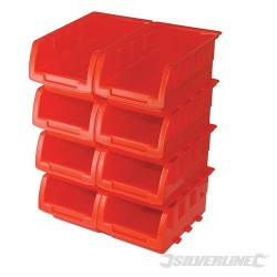 Sada stohovacích skladovacích boxů - 8 dílů - 165 x 105 x 75mm