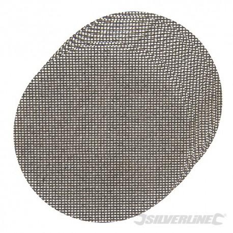 Tarczowa siatka scierna na rzep 225 mm, 10 szt. - 4 x P40, 4 x P80, 2 x P120
