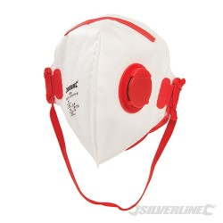Fold Flat Face Mask Valved FFP3 NR - FFP3 NR Single