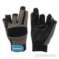 Part Fingerless Mechanics Gloves - Medium