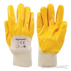 Open Back Interlock Nitrile Gloves - L 10