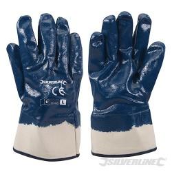 Jersey Lined Nitrile Gloves - Large