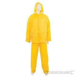 "Rain Suit Yellow 2pce - M 30""W (54 - 112cm)"