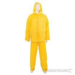 """Rain Suit Yellow 2pce - L 32""""W (56 - 116cm)"""