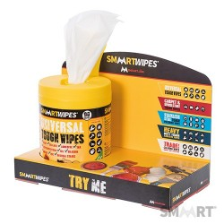 SmaartWipes Try-Me Counter Top Display Unit - 40pk, 90pk & 100pk