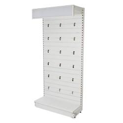 System plyt perforowanych oraz paneli podluznych - Regal z plyta z podluznymi panelami
