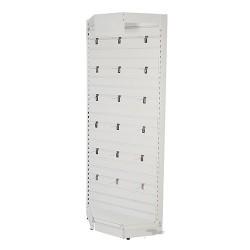 Slatwall Toolbars & Gondola Systems - Slatwall Corner Rack 1000 x 400 x 2200mm