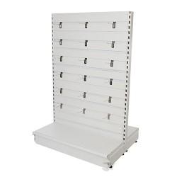 Slatwall Toolbars & Gondola Systems - Slatwall Gondola 1000 x 400 x 1500mm