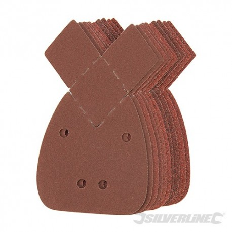 Hook & Loop Detail Sander Sheets & 2 Tips 140mm 10pk - 2 x 40, 2 x 60, 2 x 80, 2 x 120, 2 x 240G