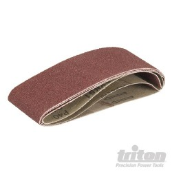 Sanding Belts for Triton Palm Belt Sander 3pk - TCMBS40G Sanding Belts 3pk 40G