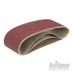 Aluminium Oxide Sanding Belts 3pk - TCMBS60G Sanding Belts 3pk 60G