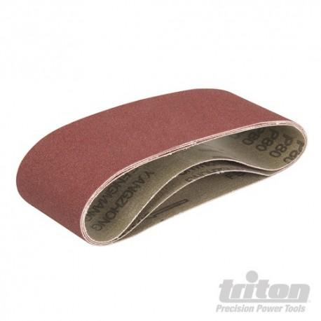 Brusné pásy pro Triton Palm Belt brusky 3 hrubosti - TCMBS80G Sanding Belts 3pk 80G