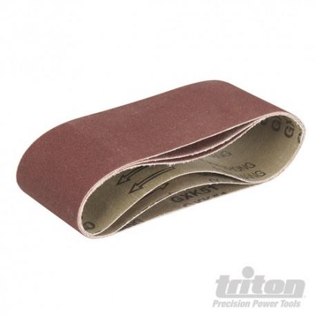 Brusné pásy pro Triton Palm Belt brusky 3 hrubosti - TCMBS100G Sanding Belts 3pk 100G