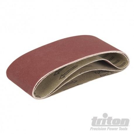 Aluminium Oxide Sanding Belts 3pk - TCMBS120G Sanding Belts 3pk 120G