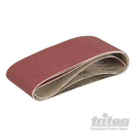 Aluminium Oxide Sanding Belts 3pk - TCMBSCPK Sanding Belts 3pce 40/60/80G