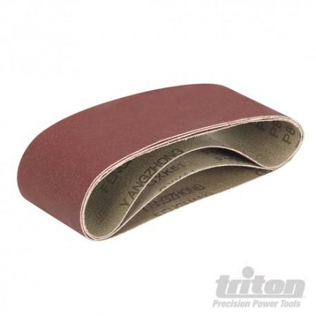 Sanding Belts for Triton Palm Belt Sander 3pce - TCMBSFPK Sanding Belts 3pce 80 / 100 / 120G