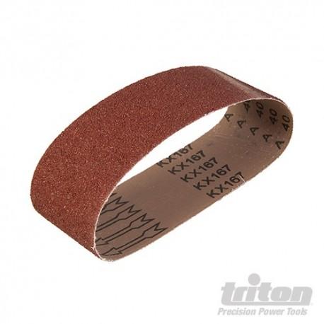 Brusné pásy s abrazivem z oxidu hlinitého, 5 kusů - TAS40G Sanding Belt 5pk 40G