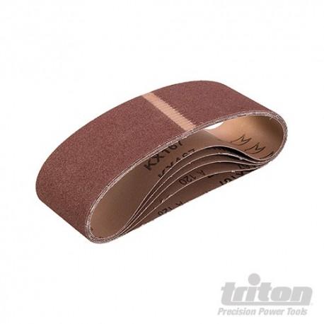 Brusné pásy s abrazivem z oxidu hlinitého, 5 kusů - TAS120G Sanding Belt 5pk 120G