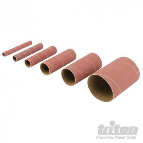 Aluminium Oxide Sanding Sleeves 6pce - TSS80G Sanding Sleeves 6pce 80G