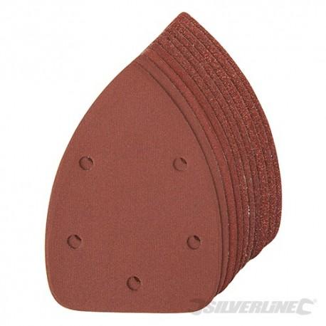 Hook & Loop Detail Sander Sheets 140mm 10pce - 4 x 60, 2 x 80, 120, 240G