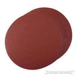 Brusný papír 250 mm, se suchým zipem - 10 kusů - 250mm 80 Grit