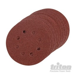 Hook & Loop Sanding Disc 125mm 10pk - 125mm 80 Grit